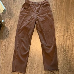 Vintage jeans cropped straight leg  brown